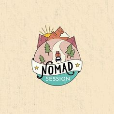 Travel themed logo design by SoniaYoungYim for a music ensemble, Nomad. A globe road map style guides this design on its journey. #travel #branding #music