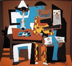 Pablo Picasso, Músicos con máscaras, 1921.