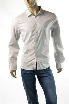 Armani Exchange Shirt A/X Mens Trim Shirts Micro Stripe Sport Casual Sz S New #ArmaniExchangeAX #ButtonFront #5Gables