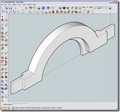 Sketchup tutorials - designing curved shapes for woodworking Woodworking Software, Woodworking School, Woodworking Guide, Woodworking Techniques, Custom Woodworking, Woodworking Projects Plans, Teds Woodworking, Sketch Up Architecture, Timber Mouldings