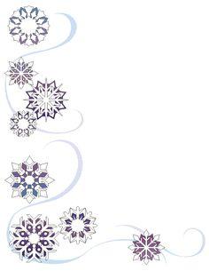 letterhead  corner christmas | wintertheme stationary Need Free Printable Stationary With Designs