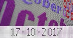 Write your name in stitches with the Cross Stitch Writer to sign your precious cross stitch project.  http://www.stitchpoint.com/eng/tool/alph/cross-stitch-writing-tool.php