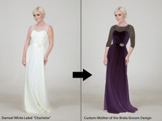 Wow!  This dress designer lets you customize ANYTHING.  www.damselwhitelabel.com 11410 Charlotte