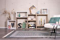 Steigerhouten modulekast. Scandinavisch en industrieel design. Gerecycleerd. Pure Wood Design - Cube