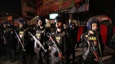 Two explosions ripped through a crowd Saturday, killing four people and injuring more than 40 in Bangladesh's northeastern city of Sylhet where army commandos stormed an Islamist extremist hideout, police said.