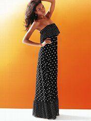 via Viola Myers Window Shopping onto My Style  strapless ruffle maxi dress # http://j.mp/An3mzq  #fashion #dress