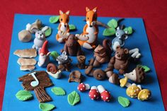 WOODLAND THEME  Everything is handcrafted , unique and one of kind. Please see all pictures in this listing for all the characters I have.  **For freshness toppers are made to order and require 5-6 days drying time before they can be shipped.  Edible Sugar Cupcake Topper Cake Decoration  Please contact me if you need something you dont see it listed. If you need larger figurines, please contact me for price and more details.  Check my store for the full kit in separate listing https:/&#x...