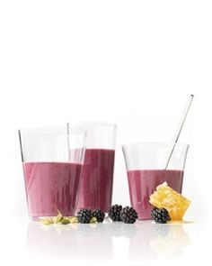Blackberry Yogurt Smoothies
