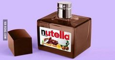 :) I have never seen a Nutella perfume ever in my life. It might smell like the Nutella jam once you put in your body. Food Art, Lip Balm, Cute Food, Cool Things To Buy, Perfume Bottles, Make Up, Cool Stuff, Creative, Inspiration