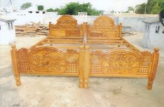 Wood Bed Design, Asa, Cots, Wood Beds, Wood Furniture, Carving, Dresses, Decor, Furniture