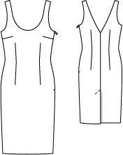 Kleid - Strechsatin