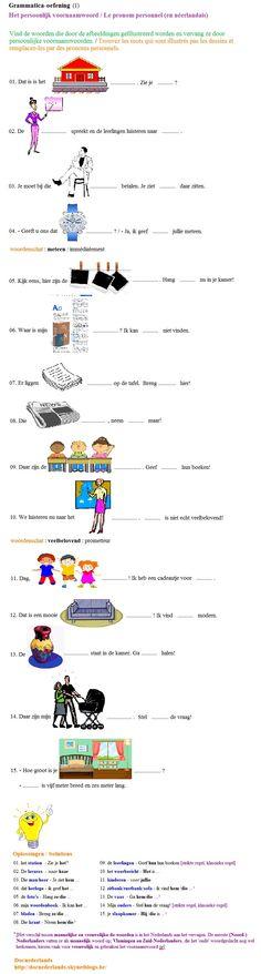 Exercice de grammaire (en néerlandais) : le pronom personnel / Grammatica-oefening : het persoonlijk voornaamwoord (het pronomen personale)