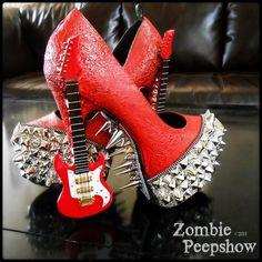 Guitar pumps by Zombie Peepshow