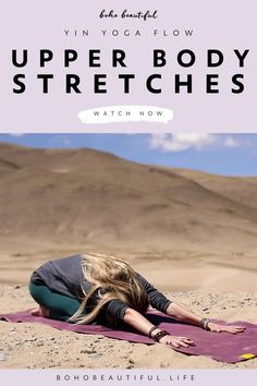 Upper Body Stretches | This yin yoga class for the upper body is fully targeted on releasing tension and stiffness in your upper body. We