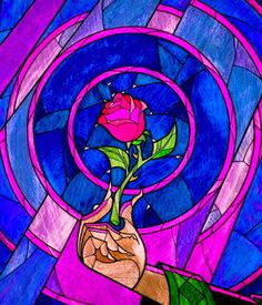 """""""Beauty and the Beast - I love the glass window imagery used in the film, and the rose is very beautiful"""""""