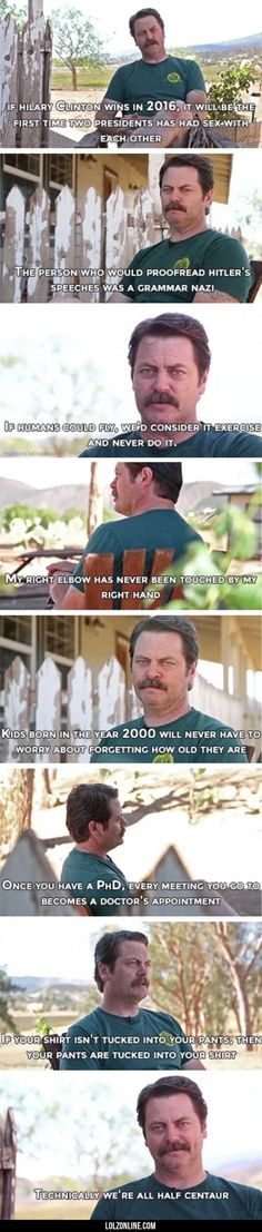 The Wisdom Of Ron Swanson#funny #lol #lolzonline