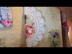 Napkin Decoupage Journal - YouTube Very nice...note personal stamps that she uses at the end!