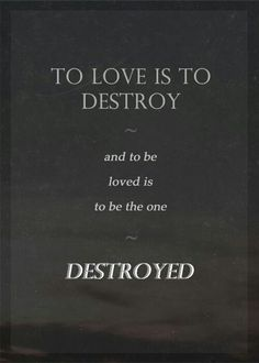 """""""To love is to destroy, and to be loved is to be the one destroyed."""" -The Mortal Instruments The Mortal Instruments, Book Quotes, Me Quotes, Good Tattoo Quotes, Shadowhunter Quotes, Cassandra Clare Books, Amazing Quotes, Book Nerd, Memes"""