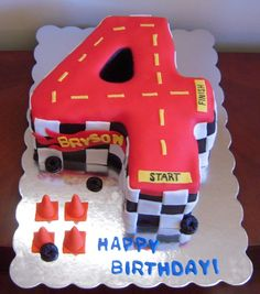 hot wheels birthday party | ... fondant. The wheels and caution cones are also made out of fondant