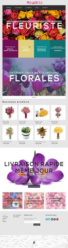 Consultez ce projet @Behance: \u201cFleuriste - Maquette Site Web\u201d https://www.behance.net/gallery/41647693/Fleuriste-Maquette-Site-Web