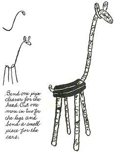 Pipe Cleaner Giraffes