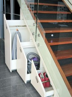 Under stairs storage cupboard staircases stairways 66 ideas for 2019 Under stairs storage cupboard staircases stairways 66 ideas for 2019 - Kitchen Furniture Storage Stairway Storage, Escalier Design, Under Stairs Cupboard, Cupboard Storage, Cupboard Ideas, House Stairs, Storage Design, Storage Ideas, Organization Ideas
