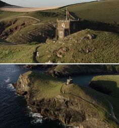 """Castle Pentyre"" Doc Martin. Doyden Castle, Port Quin, Cornwall, a Victorian Folly built in 1830"