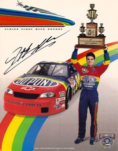 Rare Collectible NASCAR Racing Legend Jeff Gordon Autograph Signed Promo Photo