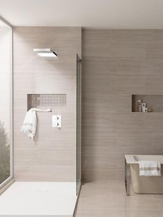 These shower tile ideas will make them hope to redesign your bathroom! Did you realize that changing the shower tile design for your bathroom can transform the whole look of. Bathroom Layout, Modern Bathroom Design, Bathroom Interior Design, Bathroom Ideas, Bathroom Renos, Small Bathroom, Washroom, Master Bathroom, Ideas Baños
