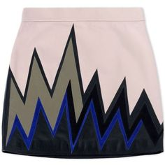 Emilio Pucci Light Pink Printed Leather Skirt ($2,130) ❤ liked on Polyvore featuring skirts, mini skirts, bottoms, pink, short pink skirt, pink leather skirt, leather miniskirt, mini skirt and multi color skirt