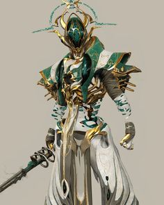 From deisgn to engine ! Fantasy Concept Art, Fantasy Armor, Fantasy Weapons, Fantasy Character Design, Dark Fantasy Art, Character Design Inspiration, Character Concept, Character Art, Warframe Art