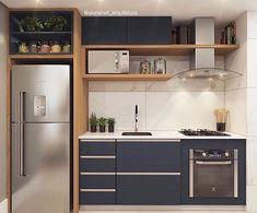 New Kitchen Remodel Plans Interior Design Ideas Kitchen Room Design, Modern Kitchen Design, Home Decor Kitchen, Interior Design Kitchen, One Wall Kitchen, Kitchen Furniture, Simple Furniture, Kitchen Tile, Interior Modern