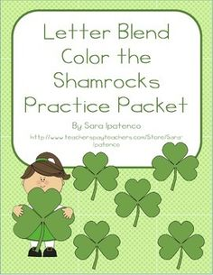 This packet, by Sara Ipatenco, is designed to help children practice their letter blend sounds. Students look at the letter blend in the first picture and then color the shamrocks with words that begin with letter blend. These are great for extra phonics practice or as morning work or homework.