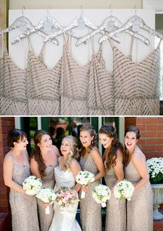 Sequin Bridesmaid Dresses    PHOTO SOURCE • TROY GROVER PHOTOGRAPHERS