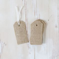 Burlap Fabric Gift Tags  8 pieces by AnastasiaMarieShop on Etsy, $5.50