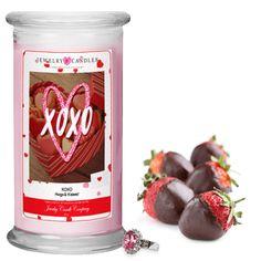 XOXO (Hugs & Kisses!) Valentines Day 2017 Jewelry Greeting Candles | Jewelry Candles - Jewelry In Candles
