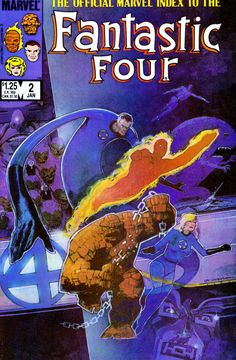 Bill Sienkiewicz 1986: The Official Marvel Index to the Fantastic Four #2 cover