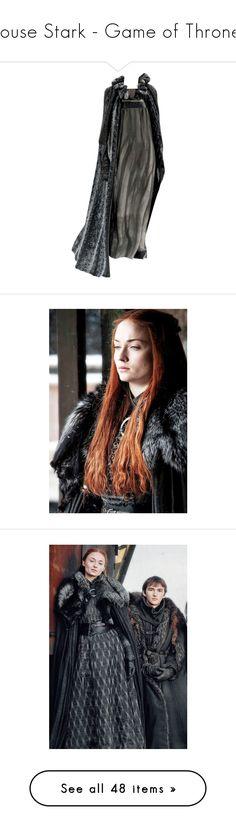"""""""House Stark - Game of Thrones"""" by greerflower ❤ liked on Polyvore featuring dresses, gowns, dolls, chanel, costume, doll dress, chanel dresses, babydoll dress, chanel evening gowns and chanel evening dresses"""