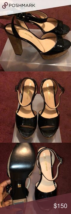 NWOT Pour La Victoire Nasha Platform Sandal BRAND NEW Pour La Victoire Nasha Patent Leather Platform sandals.   I was so excited to get these but completely for that this brand runs small. They say 38.5 but would fit a size 8 best.   Brand new, never worn. Absolutely beautiful. Pour La Victoire Shoes Sandals