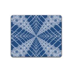 Fractal lace on blue Placemat