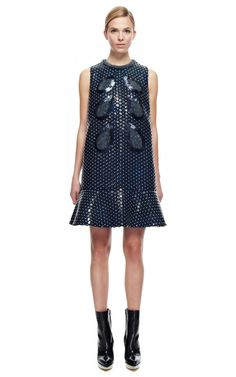 Mini A-Line Dress With Sequins by DELPOZO for Preorder on Moda Operandi