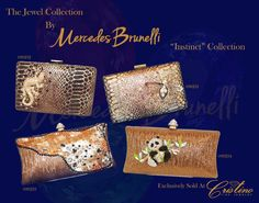 Embrace Your inner Jewel with an evening clutch by Mercedes Brunelli designed especially for Cristino Fine Jewelry. This Collection is unique and elegant and is the perfect addition to every women's wardrobe. Evening Clutches, Every Woman, Fine Jewelry, Jewels, Elegant, Unique, Bags, Collection, Women