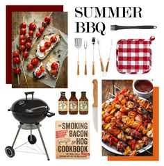"""""""Summer BBQ"""" by nikestrike101 ❤ liked on Polyvore featuring interior, interiors, interior design, home, home decor, interior decorating, Schmidt Brothers, Sur La Table, Sagaform and Macmillan"""