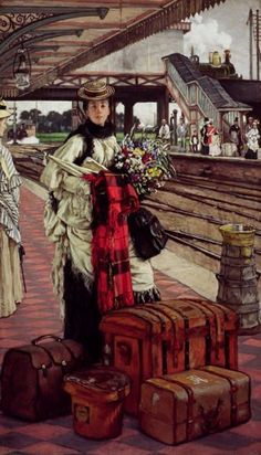 Victorians on the Move, by James Tissot   The Hammock