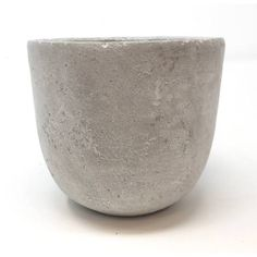 Medium concrete pot from side