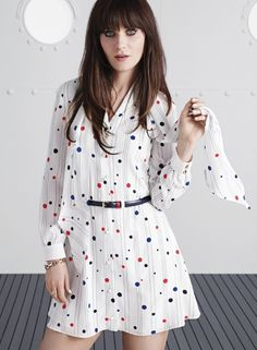 To Tommy, From Zooey, the new capsule collection designed by Zooey Deschanel and Tommy Hilfiger: Whimsy Shirtdress