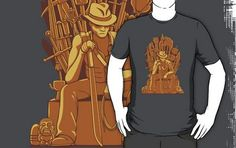 Game of Jones T-Shirt   This Indiana Jones Game of Thrones mashup is from Dan Wolfe