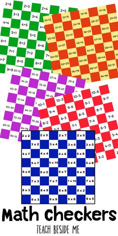 Take a traditional checkers game and make it into a math checkers game!  I created a multiplication checkers board to use at our house because my daughter is struggling with memorizing her multiplication facts right now. I am planning on making more: one for addition, subtraction, and division, so stay tuned! How to Play …