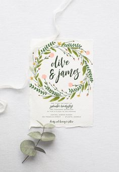 Rustic Wedding Invitation Suite DEPOSIT, DIY, Garden, Woodland, Bohemian, Boho, Country, Custom, Watercolor, Wreath (Wedding Design #80) by SplashOfSilver on Etsy https://www.etsy.com/listing/387331798/rustic-wedding-invitation-suite-deposit
