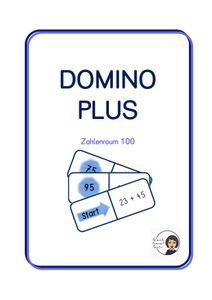 Domino: Plus Zahlenraum 100 – Unterrichtsmaterial im Fach Mathematik Philosophy, Agriculture Farming, School Social Work, Home Economics, Multiplication Tables, Physical Science, Computer Science, Biology